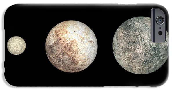 Three Sizes iPhone Cases - Dwarf Planets Ceres, Pluto, And Eris iPhone Case by Walter Myers