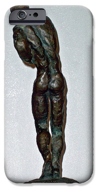 Abstract Expressionism Sculptures iPhone Cases - Dying Warrior  iPhone Case by John Neumann