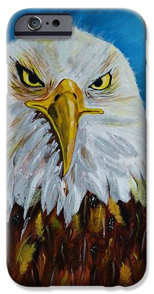 Ismeta iPhone Cases - Eagle iPhone Case by Ismeta Gruenwald