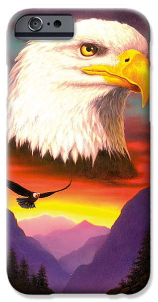Flying Animals iPhone Cases - Eagle iPhone Case by MGL Studio - Chris Hiett