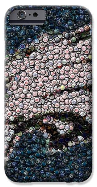 Eagles Bottle Cap Mosaic iPhone Case by Paul Van Scott