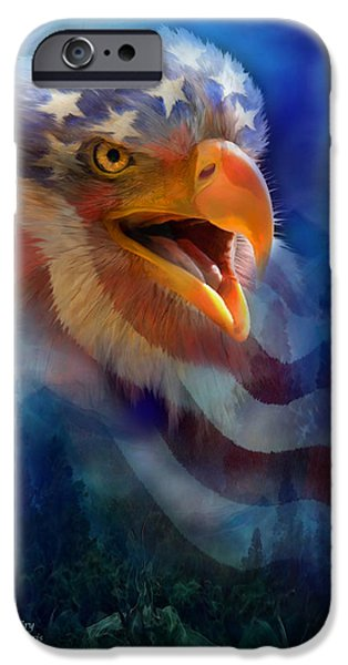 Bird Of Prey Art iPhone Cases - Eagles Cry iPhone Case by Carol Cavalaris