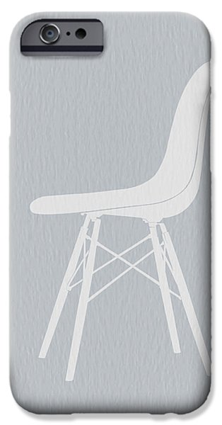 Chair Digital iPhone Cases - Eames Fiberglass Chair iPhone Case by Naxart Studio