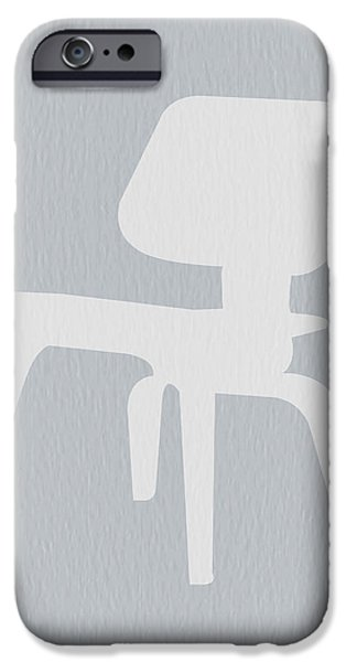 Furniture Photographs iPhone Cases - Eames Plywood Chair iPhone Case by Naxart Studio