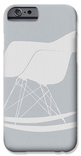 Modernism iPhone Cases - Eames Rocking Chair iPhone Case by Naxart Studio