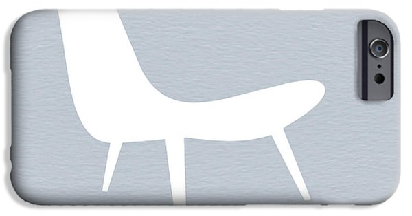 Chair Digital iPhone Cases - Eames white chair iPhone Case by Naxart Studio
