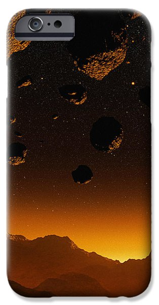 Early Earth, Computer Artwork iPhone Case by Mehau Kulyk