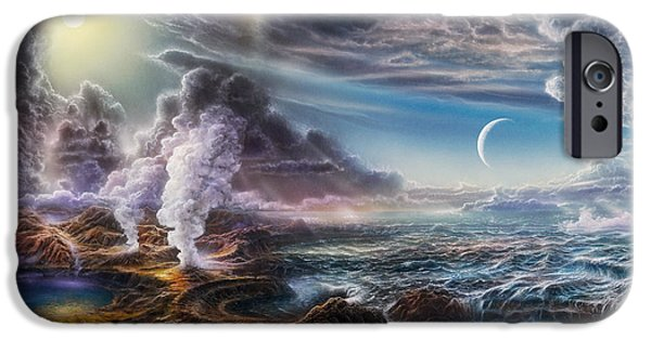 Ancient Paintings iPhone Cases - Early Earth iPhone Case by Don Dixon