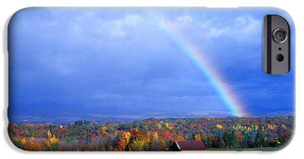Upstate New York iPhone Cases - Early Morning Rainbow iPhone Case by Larry Landolfi and Photo Researchers