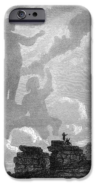 Observer iPhone Cases - Early Sighting Of Brocken Spectres, 1797 iPhone Case by