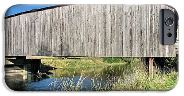 Covered Bridge iPhone Cases - Early Summer at  Grays River Covered Bridge iPhone Case by Ansel Price