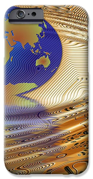 Earth in the printed circuit iPhone Case by Michal Boubin