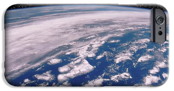 Starfield iPhone Cases - Earth With Starfield iPhone Case by NASA / Science Source