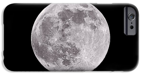 Moonscape iPhone Cases - Earths Moon iPhone Case by Steve Gadomski