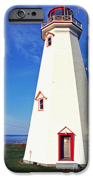 Lightstations iPhone Cases - East Point Lightstation PEI iPhone Case by Thomas R Fletcher