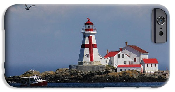 East Quoddy Lighthouse iPhone Cases - East Quoddy Head Lighthouse iPhone Case by Lori Deiter