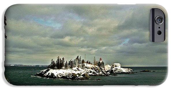 East Quoddy Lighthouse iPhone Cases - East Quoddy Lighthouse iPhone Case by Alana Ranney