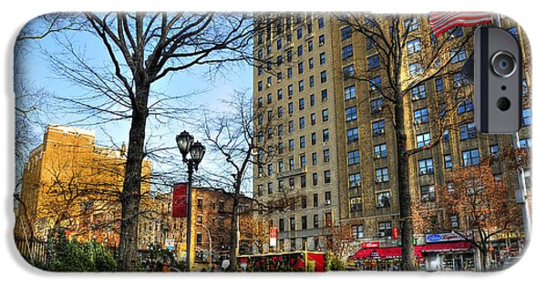 East Village iPhone Cases - East Village 2nd Avenue and 10th Street at Christmas iPhone Case by Randy Aveille
