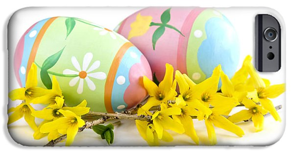 Easter Celebration iPhone Cases - Easter eggs iPhone Case by Elena Elisseeva