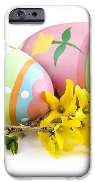 Easter eggs iPhone Case by Elena Elisseeva