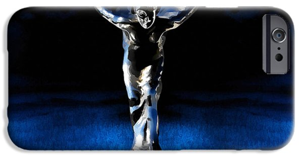 Angel Blues iPhone Cases - Ecstasy iPhone Case by Douglas Pittman