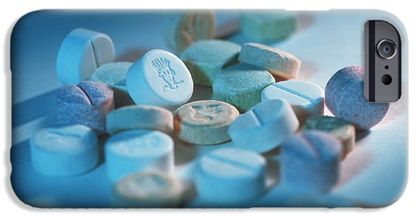 Pill iPhone Cases - Ecstasy Pills iPhone Case by Tek Image