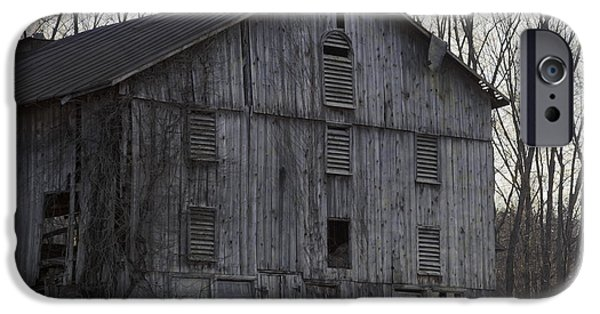 Built Structure iPhone Cases - Edge Of Evening Shabby Old Barn iPhone Case by John Stephens