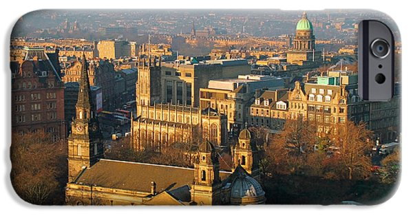 Charlotte iPhone Cases - Edinburgh on a Winters Day iPhone Case by Christine Till