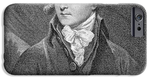 Malone iPhone Cases - Edmund Malone (1741-1812) iPhone Case by Granger