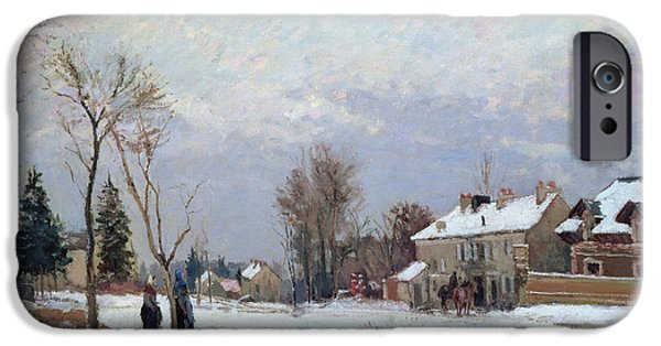 Camille Pissarro iPhone Cases - Effects of Snow iPhone Case by Camille Pissarro