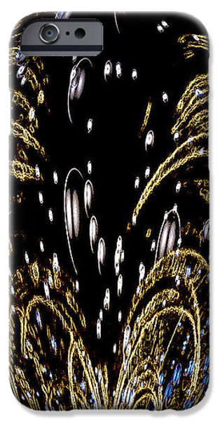 Effervescent Golden Arches Abstract iPhone Case by Carolyn Marshall