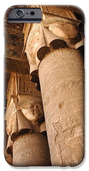 Karnak iPhone Cases - Egypt Temple Of Dendara iPhone Case by Bob Christopher