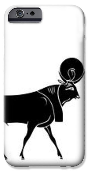 Egyptian gods and demons iPhone Case by Michal Boubin