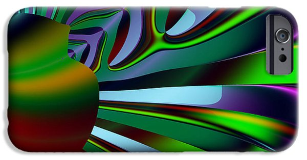 Algorithmic Digital Art iPhone Cases - Eichler Is Lost . Square . S9 iPhone Case by Wingsdomain Art and Photography