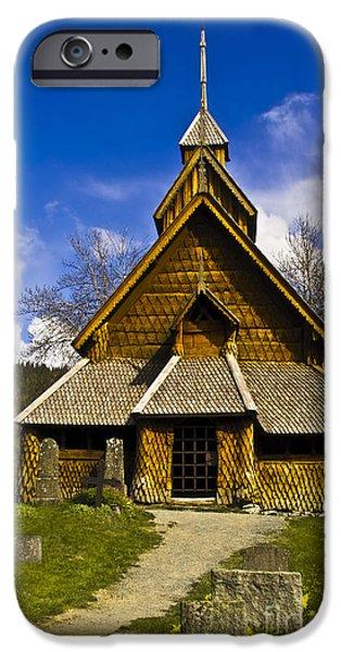 Eidsborg Stave Church  iPhone Case by Heiko Koehrer-Wagner