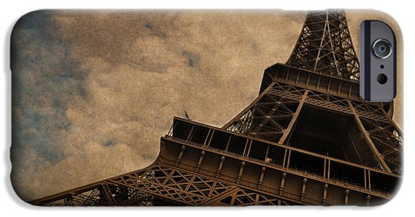 Paris iPhone Cases - Eiffel Tower 2 iPhone Case by Mary Machare