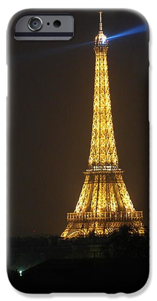 Eiffel Tower at Night iPhone Case by Jennifer Lyon