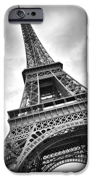 Decorative Digital Art iPhone Cases - Eiffel Tower DYNAMIC iPhone Case by Melanie Viola