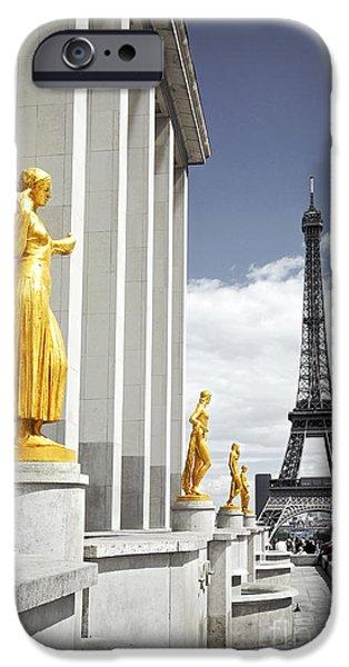 Eiffel tower from Trocadero iPhone Case by Elena Elisseeva