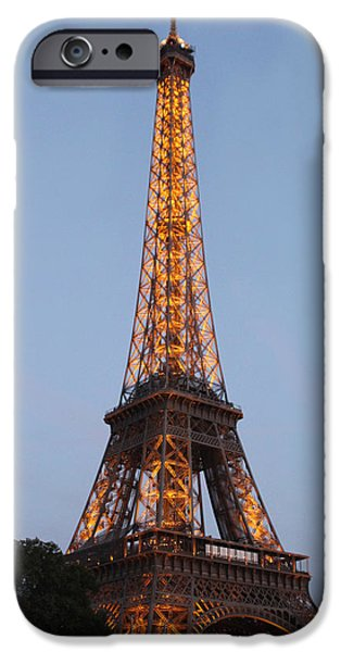 The View Mixed Media iPhone Cases - Eiffel Tower Lights iPhone Case by Debra     Vatalaro