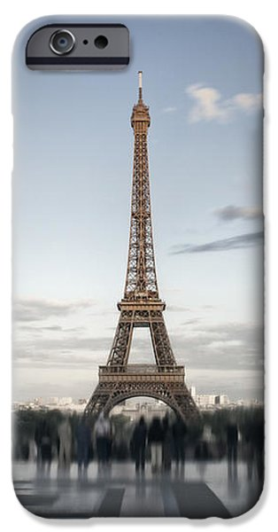 Abstract Sights Digital iPhone Cases - Eiffel Tower PARIS iPhone Case by Melanie Viola