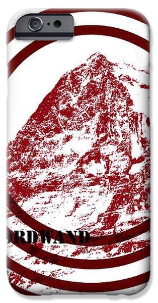 Eiger Nordwand iPhone Case by Frank Tschakert