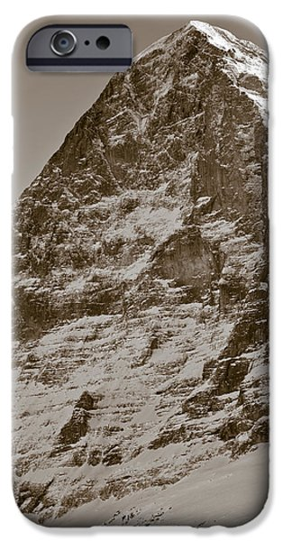 Swiss Photographs iPhone Cases - Eiger North Face iPhone Case by Frank Tschakert