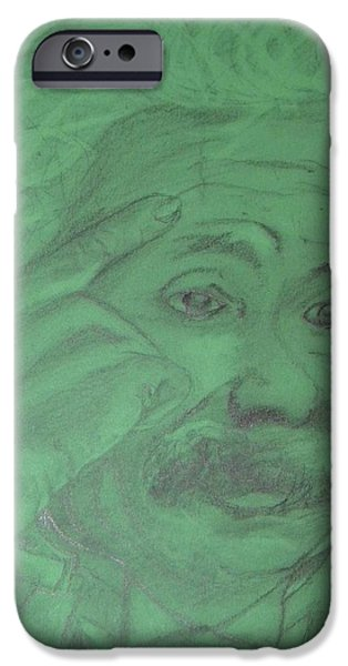 Einstein Drawings iPhone Cases - Einstein iPhone Case by Manuela Constantin