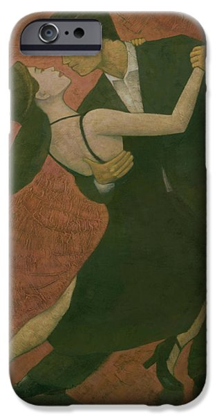Dancing iPhone Cases - El Tango iPhone Case by Steve Mitchell