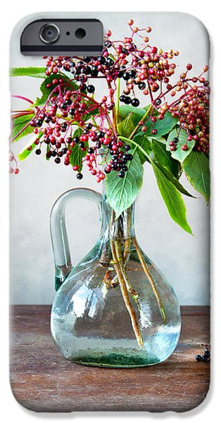 Small iPhone Cases - Elderberries 06 iPhone Case by Nailia Schwarz