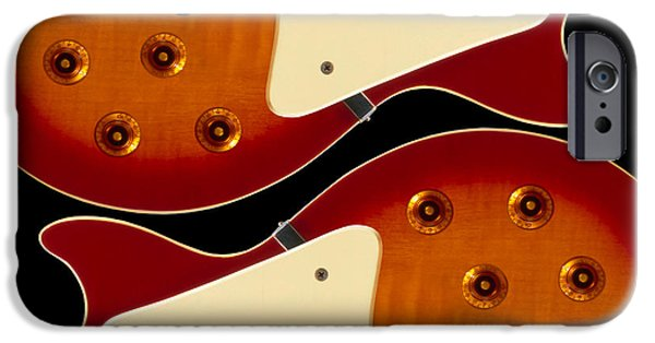 Guitar Strings iPhone Cases - Electric Guitar II iPhone Case by Mike McGlothlen
