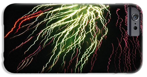 4th July Photographs iPhone Cases - Electric Jellyfish iPhone Case by Rhonda Barrett