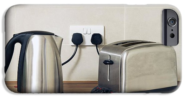 Toaster iPhone Cases - Electric Kettle And Toaster iPhone Case by Johnny Greig