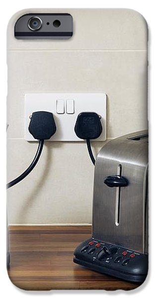 Electric Kettle And Toaster iPhone Case by Johnny Greig